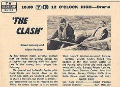 1965-TV-AD-TWELVE-OCLOCK-HIGH-ROBERT-LANSING-ALBERT-PAULSEN-THE-CLASH-EPISODE