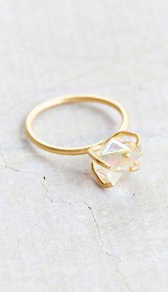 Raw Crystal Rock Ring