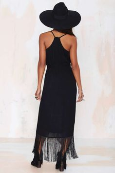 Nasty Gal Movers and Shakers Fringe Dress - LBD
