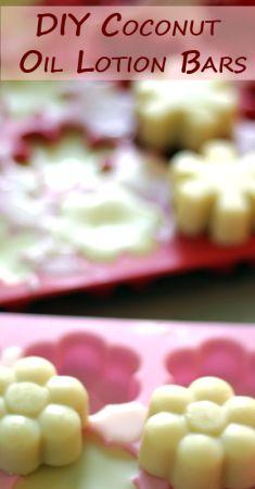 DIY Coconut Oil Lotion Bars   VeggieConverter #diybeauty #essentialoils #coconutoil