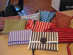 Carteras y bolsos de cremalleras. Varios colores