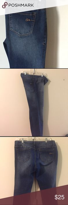 American Rag Denim straight leg Brand American Tag brought at Macy's ::literally , Wore once super super soft with a stretch size 15-R I lost weight so they are really like new! American Rag  Jeans Skinny