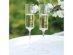 Contemporary Toasting Flutes | #exclusivelyweddings | #toastingflutes
