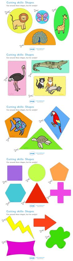 Twinkl Resources >> Cutting Skills Worksheets Shapes Parents  >> Thousands of printable primary teaching resources for EYFS, KS1, KS2 and beyond! education, home school, worksheets, cut, scissors, motor neurones,