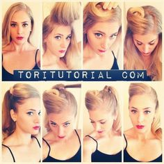 1940s hairstyles for long hair tutorial | Foto & Video