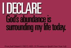 God's abundance.