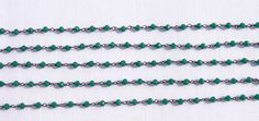 5 Feet Green Onyx Hydro Rosary Black Plated 3.50 mm Beads Rosary Beaded Chain. # #Faceted