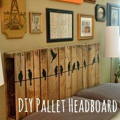 Pallet headboard DIY plans
