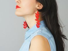 EARRINGS // Galena // Handmade Statement Lace Earrings  by EPUU, $24.00