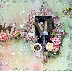 Butterffly layout **Scraps of Elegance** DT April Flutter Kit - Scrapbook.com