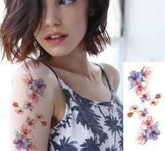 Temporary Tattoo Stickers - 23 Flower Styles