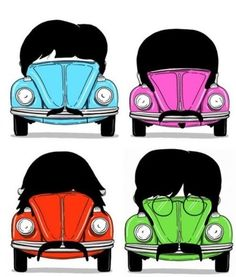 The Beatles as VW beetles.  Way cool, man.