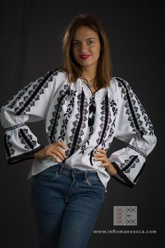 IA the Romanian Blouse. Here you can buy Romanian peasant blouses ie and folk costumes traditional clothes. Worldwide shipping for embroidered Romanian blouse Peasant Blouse, Blouse Dress, Peasant Tops, Kimono Top, Folk Costume, Costumes, Boho Fashion, Fashion Trends, Blouse Online