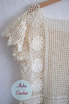 Captivating Crochet a Bodycon Dress Top Ideas. Dazzling Crochet a Bodycon Dress Top Ideas. Blouse Au Crochet, Crochet Lace Dress, Crochet Shirt, Crochet Cardigan, Crochet Bodycon Dresses, Filet Crochet, Irish Crochet, Diy Crochet, Crochet Top