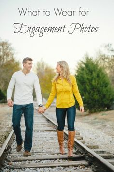 Great tips for what to wear for engagement photos! by JoPhoto.   https://www.thebridelink.com/blog/2014/07/13/what-to-wear-for-engagement-photos-by-jophoto/
