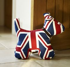 Union Jack Dog door stop.perfect for my friend at school in London Mini Cooper S, Union Jack Decor, Dog Door Stop, Union Flags, British Things, Cox And Cox, Save The Queen, British Style, British Decor