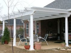 pergolas attached to house | ... Ultra Lattice Free Standing Cover! This is not attached to the house