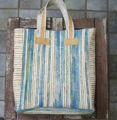 Super colors!!! === Stripes bag tote bag  pure silk  hand painted  by BAGSaraGui