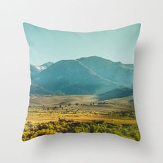 Outdoor or Indoor Pillow Cover / Sierra by LemoneeOnTheHills