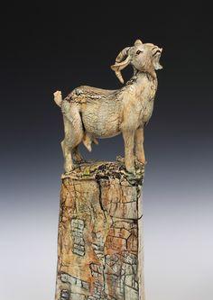 Annie Peaker contemporary figurative ceramics #goatvet loves this