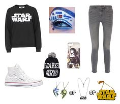 """another Star Wars galaxy outfit/makeup "" by abbyhutch814 on Polyvore featuring Tee and Cake, MiH Jeans, Converse, R2 and Chicnova Fashion"