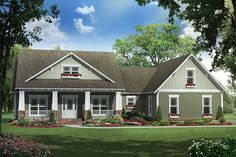 Craftsman Exterior - Front Elevation Plan #21-289