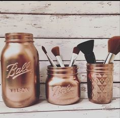 Copper mason jars