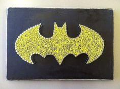 Personalized String Art Superhero Batman by ShootnStitch on Etsy, $40.00