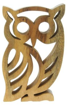 Handcarved Owl Ornament Pinned by www.myowlbarn.com