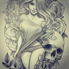 Skull n girl