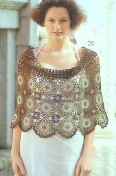 lots of poncho and capelet patterns with charts