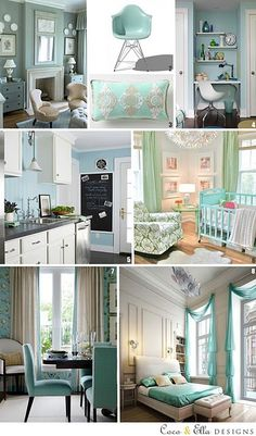 Aqua interiors inspiration - Beautiful home decor! What better feeling than coming back to a beautiful and cozy home. Decorating ideas