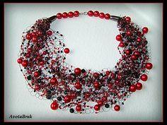 Воздушное ожерелье крючком - Ярмарка Мастеров - ручная работа, handmade