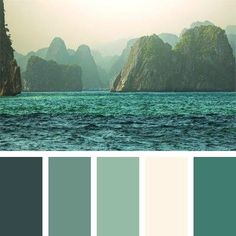 Green Hues Island And Sea Calm Colors For Bedroom
