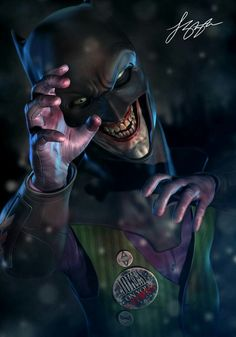 "The Joker With The Bat Cowl "" Jokes On You"""