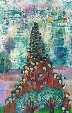 Nabil Anani - Art on Massera. Palestine Art, Modern Art, Contemporary Art, Symbolic Art, Middle Eastern Art, Arabian Art, Jewish Art, Artist At Work, Folk Art
