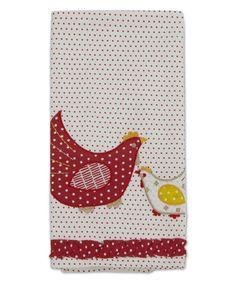 Country Hen Tea Towel #zulily #zulilyfinds