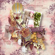 """Kit """" Coming Spring """" by Angel´s Designs Photo by Sandra http://scrapbookbytes.com/store/manufacturers.php?manufacturerid=252"""