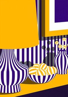 Смелые Иллюстрации Каран Сингх | Вдохновение Сетка | дизайн вдохновение