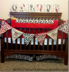 4pc Mlb St Louis Cardinals Crib Bedding Set Baseball Baby