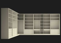 Life box A spacious, complete walk-in wardrobe in an L shape Wardrobe Design Bedroom, Walk In Wardrobe, Bedroom Wardrobe, Modern Wardrobe, Bedroom Cupboard Designs, Bedroom Cupboards, Walk In Closet Design, Closet Designs, Wardrobe Internal Design