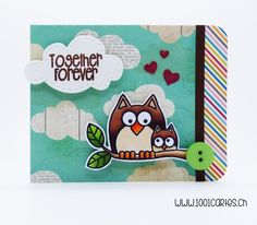 Cute owls Hero Arts