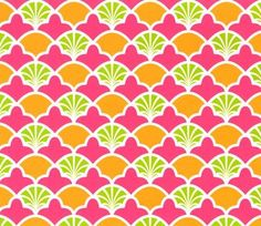 Patty Young Premium Quilt Fabric- French Scallop Pink
