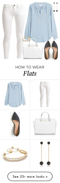 """Untitled #3080"" by emmafazekas on Polyvore featuring Benetton, Velvet, J.Crew, Michael Kors, Marc Jacobs, Bee Goddess and Wish by Amanda Rose"