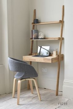 The ultimate in space saving cleverness, this piece makes the perfect companion to our oak wide ladder shelves, ladder shelves and narrow ladder shelves when lined-up against the wall.