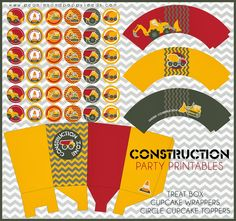 Construction Party Free Printable Mini Kit.