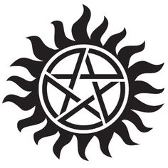 Supernatural tattoo, anti-possession. Placement: left hip (back).