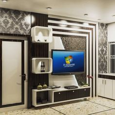 Modern TV wall units for living rooms - Wooden TV cabinets designs 2020 unit decor Top Of Lcd Unit Design, Tv Unit Interior Design, Tv Unit Furniture Design, Living Room Partition Design, Room Partition Designs, Living Room Tv Unit Designs, Modern Tv Room, Modern Tv Wall Units, Modern Tv Cabinet