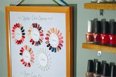 Nail Color Wheel: A Great Color Display Idea