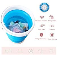 USB Cable Mini Washing Machine for Camping 2020 New Folding Fully automatic Laundry Machine Upgraded Portable Washing Machine Apartments,Business Trips Turbine Washer Dorms Bule Low Noise